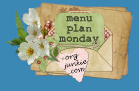 Menu Plan Monday - 30th August