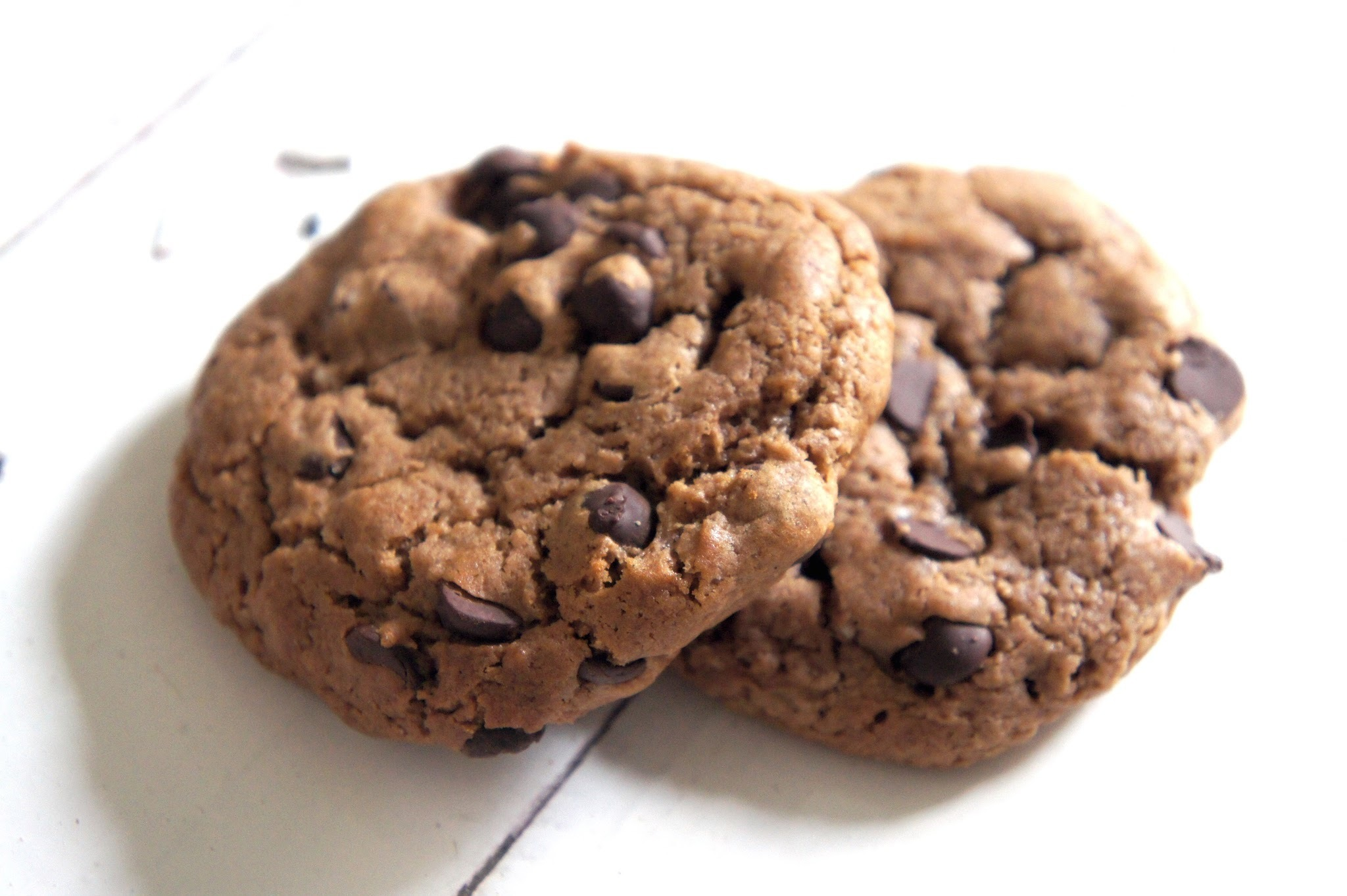 Chocolate chocolate chip cookies i posta de sol