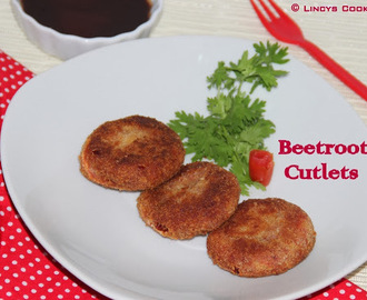 Beetroot Tikki/ Beetroot Patties/ Beetroot Cutlets