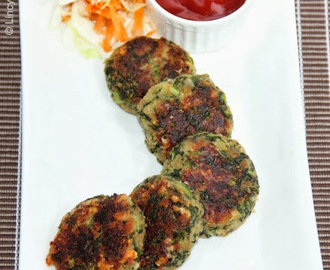 Hara Bhara Kebab/ Spinach Tikki/ Spinach Patties/ Spinach and Cheese Cutlets