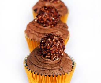 Triple Chocolate and Ferrero Rocher cupcakes