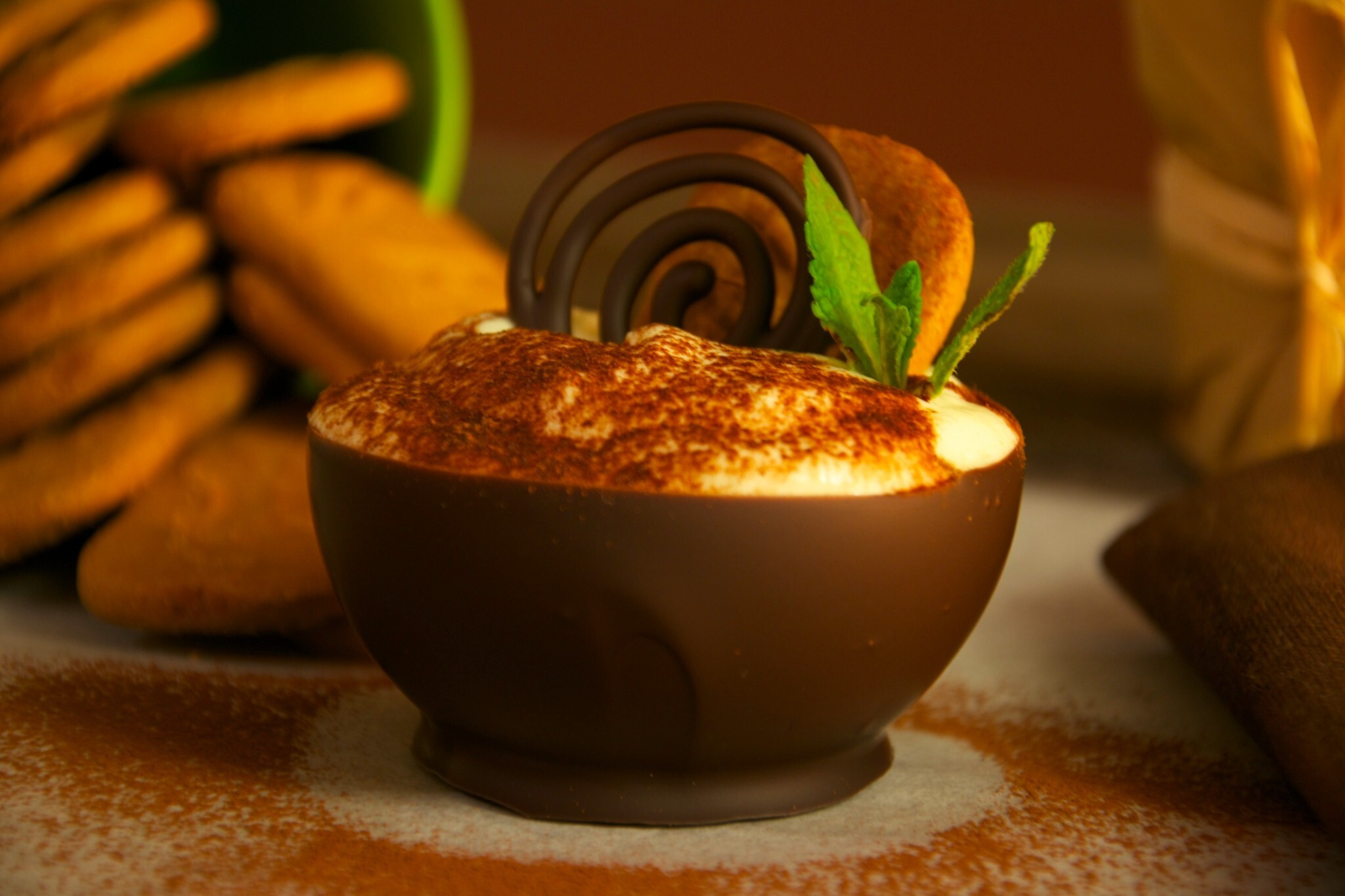 Tiramisú de Speculoos en mini bowl de chocolate