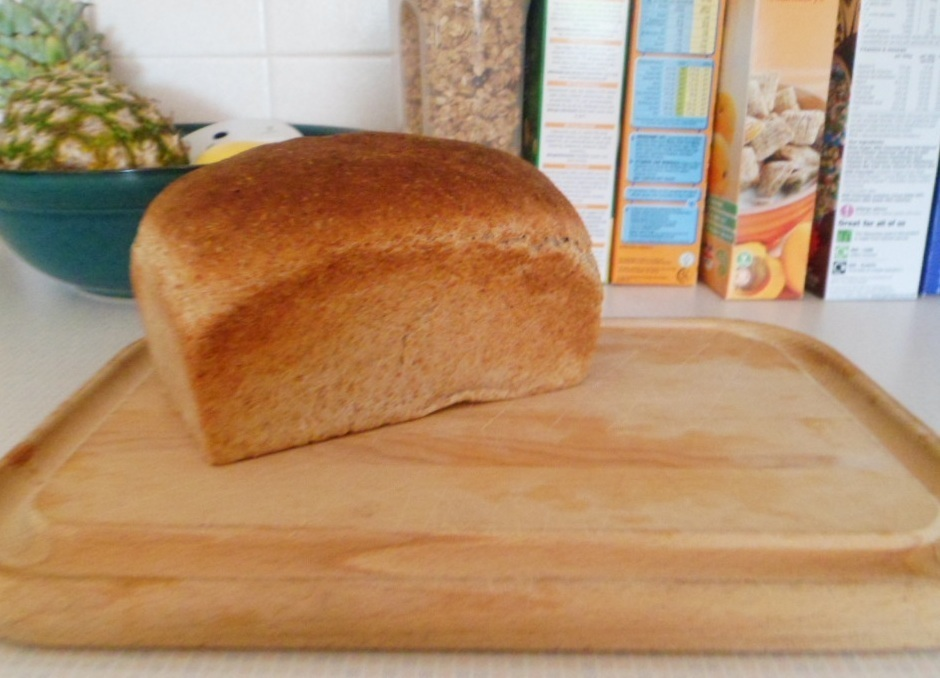 My First Loaf of Wholemeal Bread