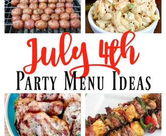 July 4th Party Menu Ideas – Drinks, Appetizers, Mains, and Desserts!