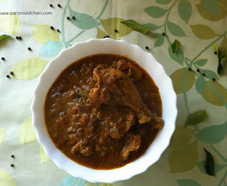 Pepper Chicken Gravy / Chettinadu Milagu Kozhi Kuzhambu