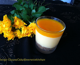 No Bake Mango CheeseCake / Eggless Mango Cheese Cake / Mango CheeseCake
