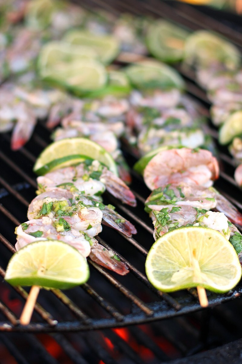 Easy BBQ Cilantro Lime Shrimp