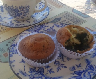 Lemon and blueberry muffins  ( a new recipe)