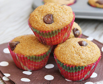 Whole Wheat Chocolate Chip Muffins | Whole Wheat Muffins