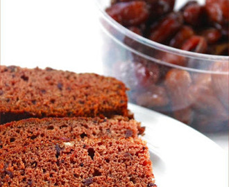 Eggless Butterless Dates Cake / Eggless Moist Date Cake