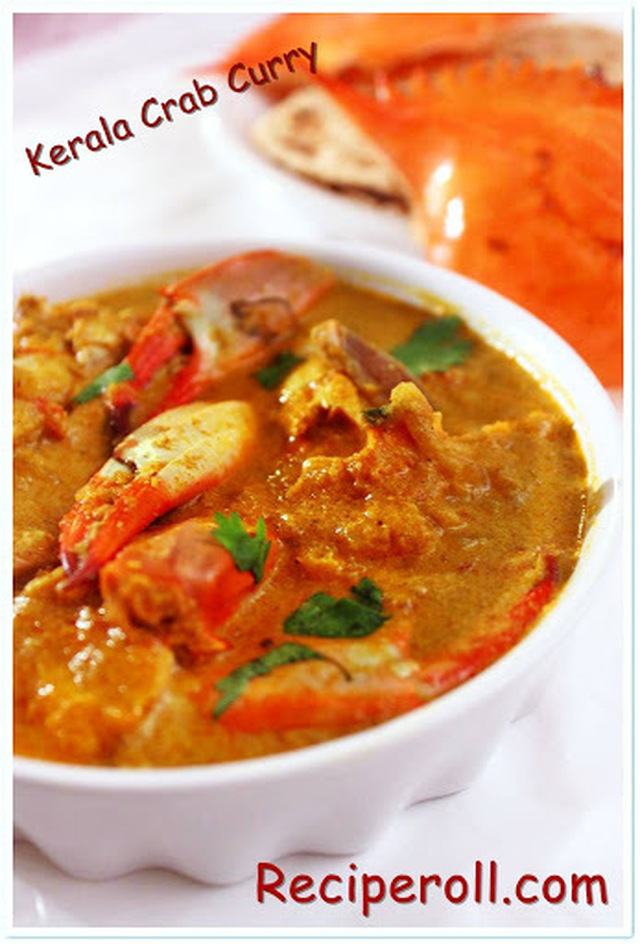 Crab Curry/Kerala Style Crab Curry in Coconut Milk