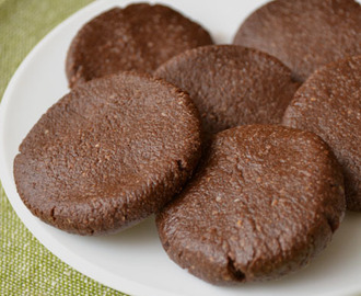 Galletas de Chocolate sin Hornear (Receta GFCFSF, Vegana, RAW)
