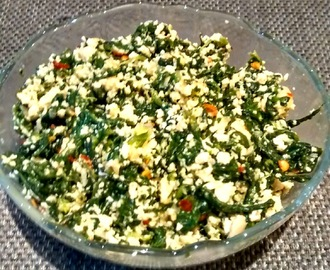 Palak Paneer Bhurji (Scrambled spinach & cottage cheese)