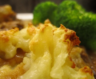 Cottage pie topped with horseradish & cheddar mash