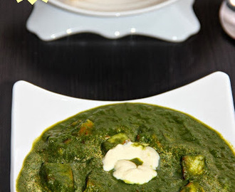 Palak Paneer/ Cottage Cheese in Spinach Sauce/ Panner in Spinach Gravy