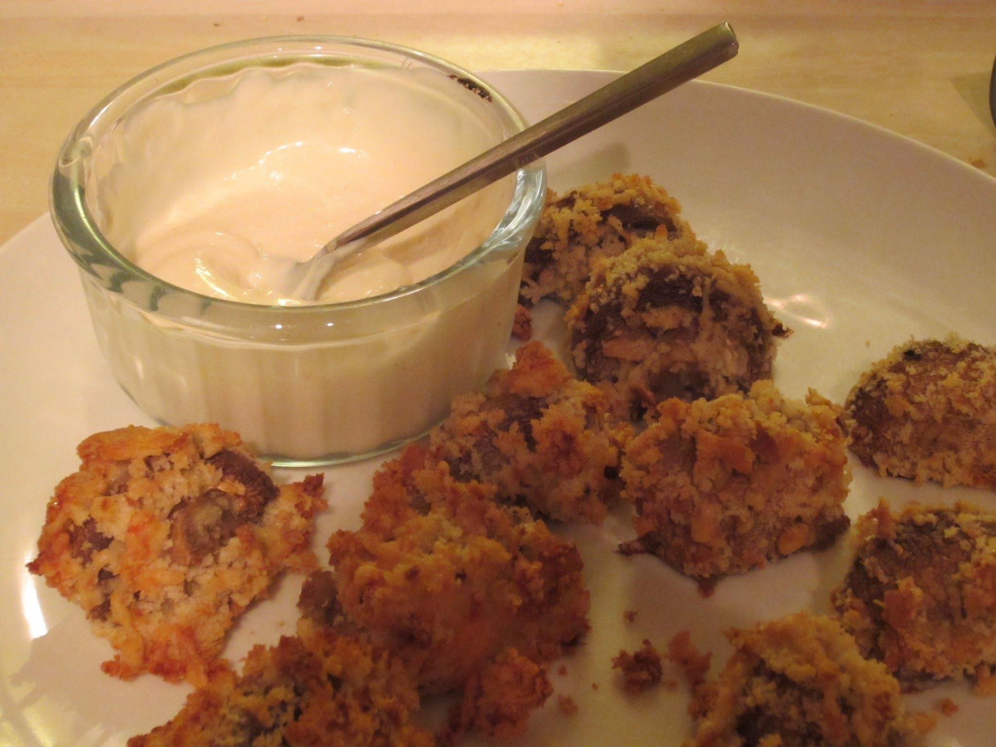 Breaded Mushrooms with Garlic Mayo for Toddlers and Adults