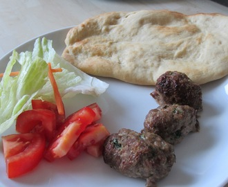 Lamb Kofta Recipe for Babies and Toddlers with homemade naan (flatbread)