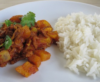 Keema and Potato curry for babies and toddlers (Keema Aloo)