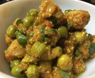Soy Nuggets with Green Peas dry Veggie!