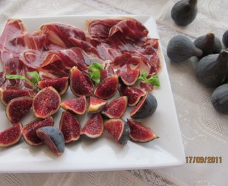 FIGUES AMB PERNIL IBERIC - FIGS WITH IBERIAN HAM
