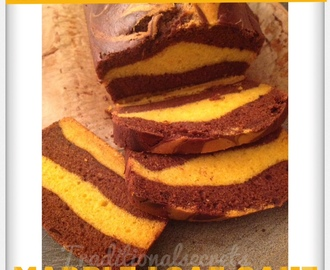 +Mango-Chocolate Marble( Love) Loaf Cake..;) Eggless & Butterless.;p *Tried&Tested*