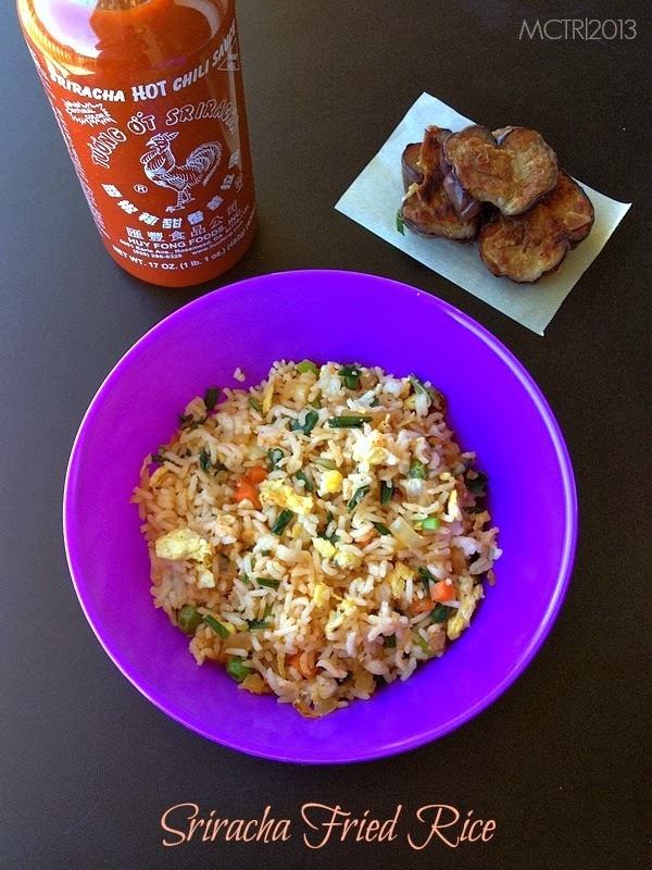 Sriracha Egg Fried Rice | Easy Lunchbox recipes