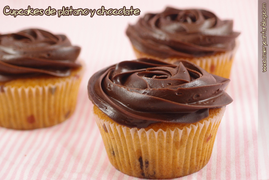Muffins de platano y chip de Chocolate