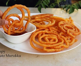 CRISPY POTATO SNACK / POTATO MURUKKU - MURUKKU /CHAKLI RECIPE