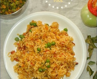 Tomato Peas Rice | Easy Lunchbox Recipes
