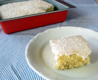 Coconut Cake with Lemon Frosting