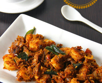 Prawn Pepper Masala/ Prawn Pepper Roast