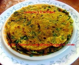 METHI NA THEPLA (GUJARATI FLAT BREAD WITH FRESH FENUGREEK LEAVES)