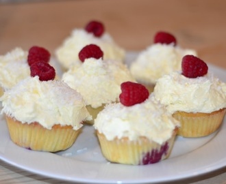 raspberry and coconut cupcakes: peyton and byrne recipe