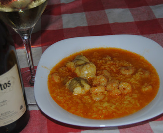 Arroz con rape y gambas (Thermomix)