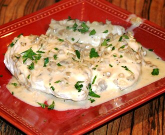 Chicken Breasts in a Port Wine Mushroom Cream Sauce