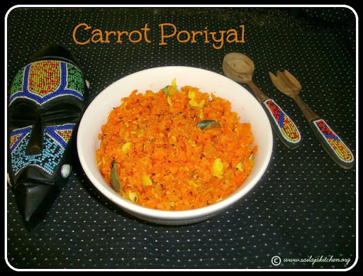 Carrot Poriyal / Carrot Thoran / Carrot Fry Recipe / Carrot Stir Fry Recipe