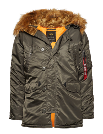 N3b Vf 59 Parka Jacka Brun ALPHA INDUSTRIES
