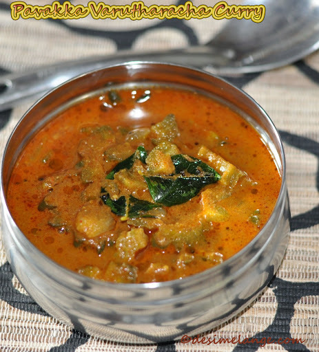 Varutharacha Pavakka Curry | Bitter gourd cooked in roasted coconut gravy