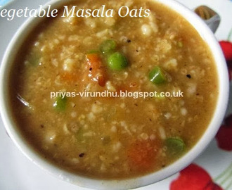 Vegetable Masala Oats/Oats Savoury Porridge