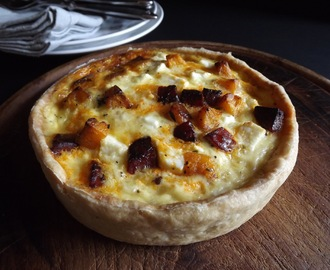 Tart with a Heart of Gold - Chorizo, Feta and Butternut Squash Tart