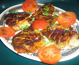 Pan  Fried Whole Pomfret - Vavval miin varuval
