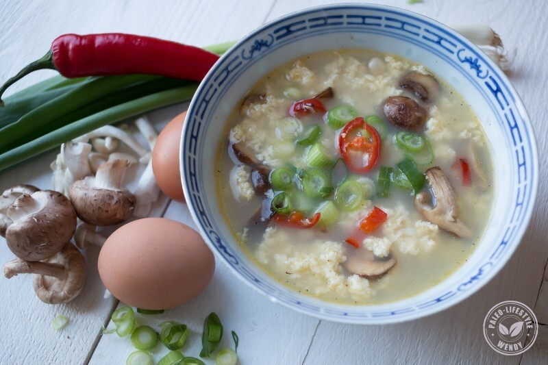 100% Paleo: Chinese 'egg drop' soep