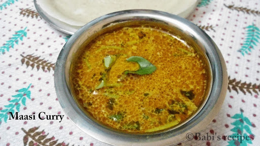 Massi Curry | Dried Maldive Fish cooked in coconut milk | Side dish for Aapam /Idiyappam