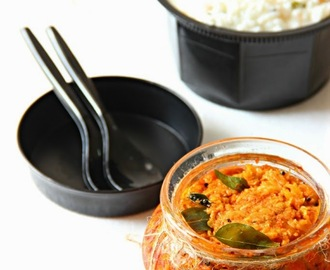 Mangai Thokku/ Mango Thokku Pickle/ Sweet and Tangy Mango Thokku/ Raw Mango Grated Pickle