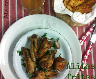 Alitas Fritas Al Ajillo (Garlic Fried Chicken Wings)