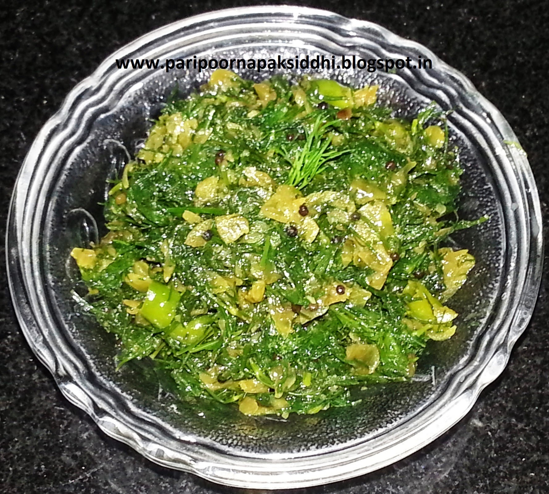 SHEPU CHI BHAJI / STIR FRIED DILL LEAVES / शेपूची भाजी