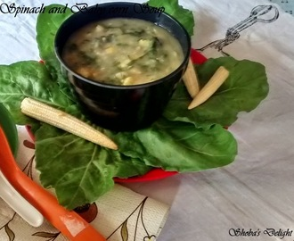 Spinach and Baby corn Soup