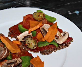 Leinsamen Pizza – Low Carb & Vegan