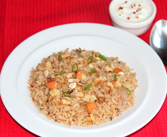Nuts and flaxseed masala rice