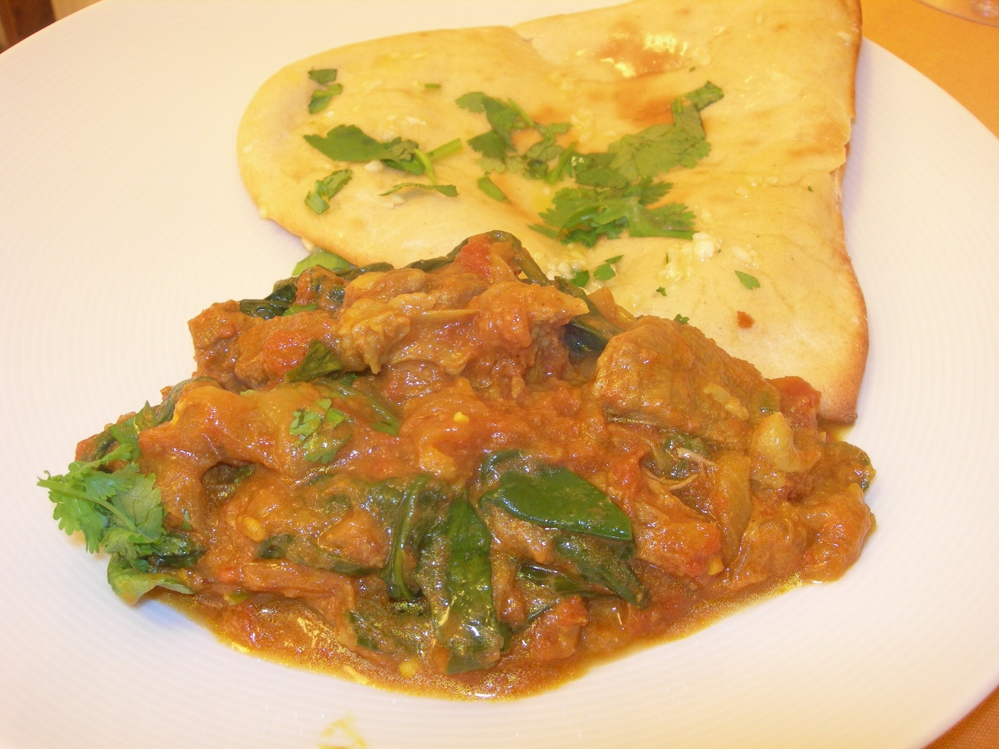 Spinach & Lamb Curry (Saag Gosht)